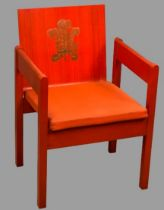 PRINCE OF WALES CAERNARFON INVESTITURE CHAIR, 1969, designed by Lord Snowdon and manufactured by