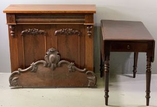 MAHOGANY CHIFFONIER - having a single drawer over two doors, 96cms H, 107cms W, 43cms D and a
