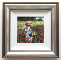 SHERREE VALENTINE DAINES hand embellished limited edition (55/195) giclee print on canvas - entitled