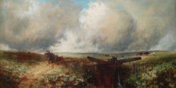 EDMUND MORISON WIMPERIS (British, 1835-1900) oil on canvas - A Lock on the Ockment, Dartmoor,