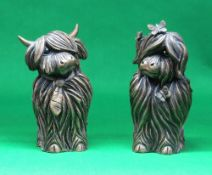 JENNIFER HOGWOOD limited edition (7/295 & 164/295) cold cast sculptures - 'Angus' & 'Heather', two