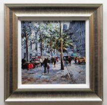 HENDERSON CISZ embellished limited edition (121/195) giclee print on canvasboard - entitled verso '