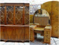 ASSORTED FURNITURE, including Art Deco burr walnut bedroom suite (pair wardrobes, dressing table,
