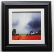 BARRY HILTON embellished limited edition (29/195) giclee print canvas on board - entitled verso '