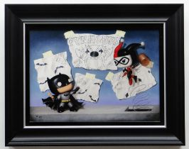 NIGEL HUMPHRIES limited edition (56/295) canvas giclee print on board - entitled verso 'Fun
