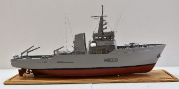 QUALITY LARGE SCALE SHIP MODEL OF HMS WAVENEY 'M2003', River-Class Minesweeper