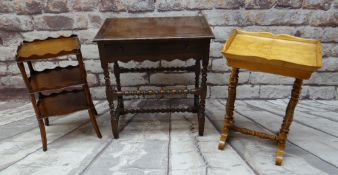 THREE ITEMS OF REPRODUCTION OCCASIONAL FURNITURE, comprising French-style satin birch tray top
