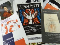 COLLECTION ART GALLERY EXHIBITION POSTERS, from the Glynn Vivian Gallery, Serpentine Gallery, The
