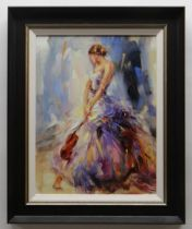 ANNA RAZUMOVSKAYA hand embellished limited edition (4/195) giclee on canvasboard - 'Flirting with