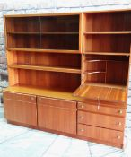 MODERN McINTOSH & Co. TEAK LOUNGE CABINET, fitted with shelves, cupboards, glass doors and