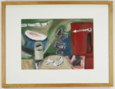WILL DATSON oil on paper - 'Garden (Bird Tile)', signed and dated 1996, inscribed verso on Martin