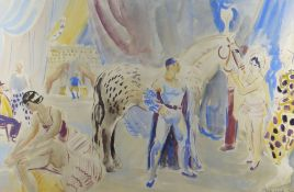 D. M. MOORE watercolour - Circus Horse, homage to Dame Laura Knight, signed and dated 1946 in