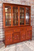 MODERN CHINESE HARDWOOD CABINET, 198h x 152.5w x 48cms