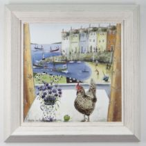 REBECCA LARDNER limited edition (177/195) giclee print on canvas board - entitled verso 'Free