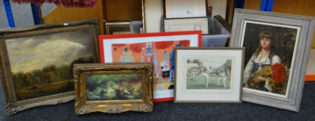 ASSORTED DECORATIVE PRINTS, including pair of Limited Edition colour prints by Colin Carr, Limited