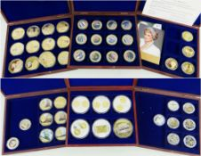 QUANTITY OF COMMEMORATIVE CASED COLLECTIONS comprising some complete and part sets (see images)