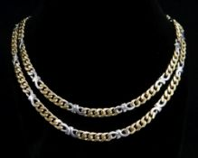 9CT GOLD FLAT LINK CHAIN, 60cms long, 28.5gms