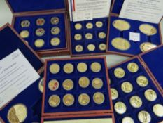 QUANTITY OF CASED COMMEMORATIVE MEDALLION SETS comprising Windsor Mint British Military Aircraft