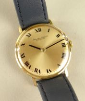 9CT GOLD IWC GENTS WRISTWATCH, the dial marked 'International Watch Co Schaffhausen' with Roman