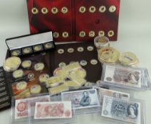 QUANTITY OF CASED COMMEMORATIVE COIN COLLECTIONS some part sets (see images) comprising Most