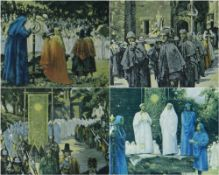WILLIAM GRANT MURRAY set of four limited edition (118/150) colour prints - 1926 Swansea Eisteddfod