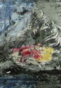JOHN PIPER screen print on Sandersons fabric - produced for Sandersons in 1960, entitled 'The