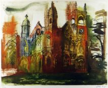 JOHN PIPER limited edition (30/70) etching with aquatint - 'Gothic Folly, Stowe', signed in