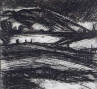 PETER PRENDERGAST etching - title to margin 'View From Studio, 1984', signed, 19 x 19cms Provenance: