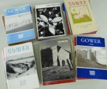 FORTY FOUR VOLUMES OF 'GOWER - JOURNAL OF THE GOWER SOCIETY', 1950s / 60s / 70s with written