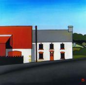 TOM JONES RCA pastel - The Plough and Harrow in Upper Chapel, monogrammed, 47 x 47cms Provenance: