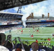 NICK HOLLY limited edition (49/50) print - Swansea City FC playing at the Vetch Field, signed, 30