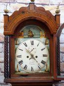 "19TH CENTURY WELSH OAK 8-DAY LONG CASE CLOCK, Kern & Co., Swansea, painted 12"" Roman dial with"