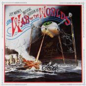 RARE AUTOGRAPHED 1ST EDITION LP INSERT FOR JEFF WAYNE'S MUSICAL VERSION OF THE WAR OF THE THE WORLDS