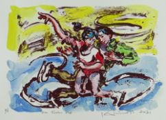 KEVIN SINNOTT (1/1) handcoloured monoprint produced by master printmaker Pete Williams - two