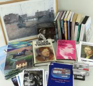 BOOKS, RECORDINGS & EPHEMERA RELATING TO DYLAN THOMAS including signed volumes by Paul Ferris,
