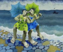 MURIEL DELAHAYE limited edition (44/275) colour print - 'Ice Cream Ladies', signed in pencil, 37 x