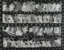 BEN PRITCHARD limited edition (1/24) aquatint etching - four film-strips of figures, titled 'Which