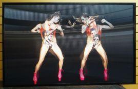 DERRICK SANTINI (British, b. 1965) lenticular print - 'Suki vs. Suki', 2010, 84 x 120cms Provenance: