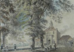 ATTRIBUTED TO SAMUEL HIERONYMUS GRIMM (Swiss, 1733-1794) watercolour - Woolwich Arsenal, entitled on