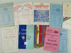 MAINLY PRE-WAR RUGBY UNION PROGRAMMES & EPHEMERA including programmes and dinner cards, (1) 1929