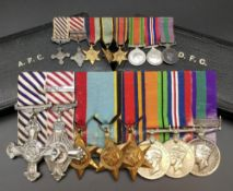 WING COMMANDER REX SOUTHERN SANDERS OBE (1922-2017) WWII medal group comprising DFC (Distinguished