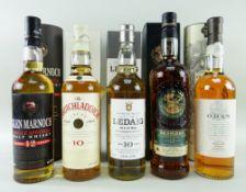 FIVE SINGLE MALT SCOTCH WHISKY EXPRESSIONS comprising Glen Marnoch single Speyside malt whisky