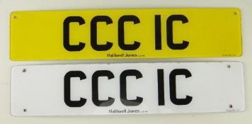 VEHICLE REGISTRATION CCC1C ON RETENTION Provenance: private collection north Wales