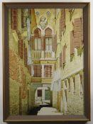 ROBERT LOUIS BANKS (British, 1911-2000) watercolour - 'Calle de Larco', 68 x 48cms Provenance: