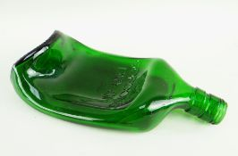 GILBERT & GEORGE (British, b. 1943 and b. 1942) green bottle glass - 'Reclining Drunk', 1973, with