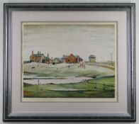 LAURENCE STEPHEN LOWRY R.A. (British, 1887-1976) offset lithograph - Landscape with Farm