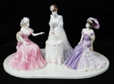 LARGE COALPORT PRESTIGE COLLECTION 'AFTERNOON TEA' GROUP, limited edition no. 53/250, depicting