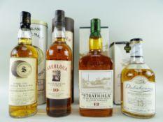 FOUR HIGHLAND MALT SCOTCH WHISKY EXPRESSIONS comprising Signatory Vintage Glenallachie 1991