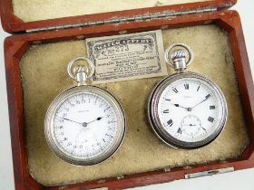 MATCHED PAIR OF FINE WALTHAM SIDEREAL ASTRONOMIC & VANGUARD POCKET WATCHES, early 20th C., the A.W.