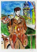 BOB DYLAN (American, b. 1941) limited edition (180/295) giclee on paper print from the 'Drawn Blank'